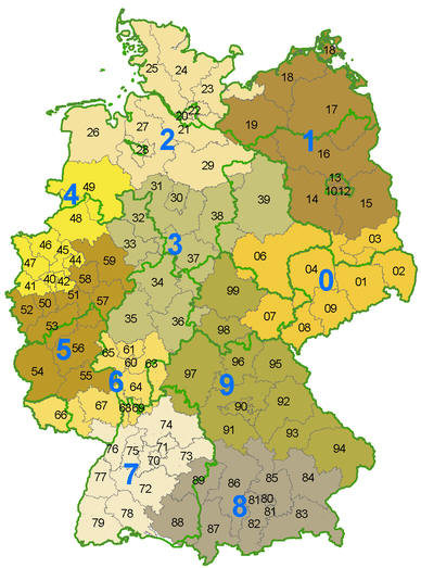 German post code map 2