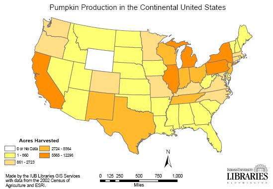 In 2005 Illinois Was Number One Among The Top Five Pumpkin Producing States With Almost 4 97 Million Pounds Followed By California With Almost 1 6